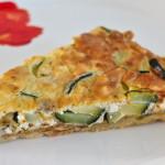Schafskaese Zucchini Quiche