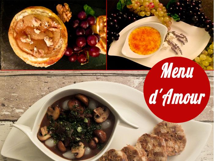 menu damour