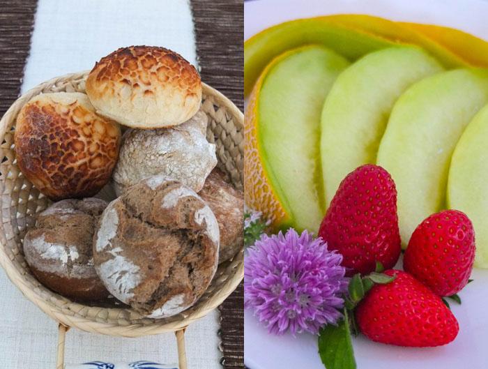 Jeden Morgen frische Brötchen und Vitamine